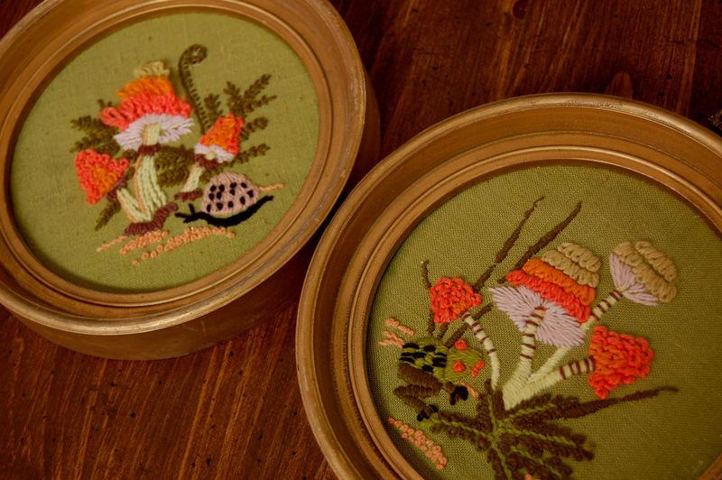 Embroidered frames